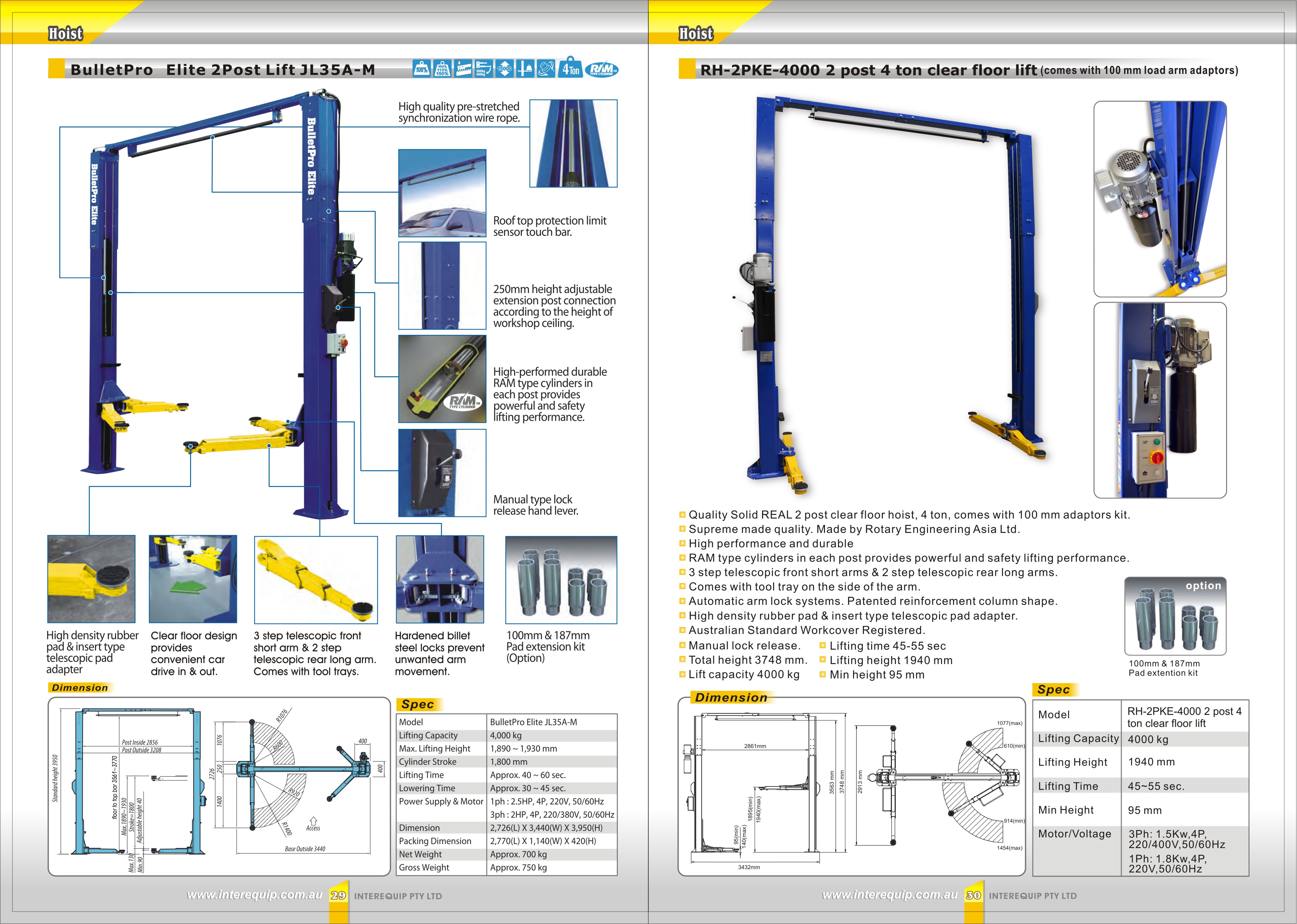 Tecalemit 2 Post Lift Wiring Diagram Chair Schematic Real Clear Floor 4 Ton Interequip Pty Ltd Stair Diagrams